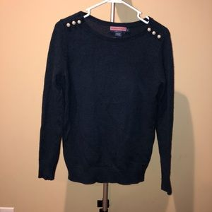 Vineyard Vines Navy with Pearls Sweater Size Small